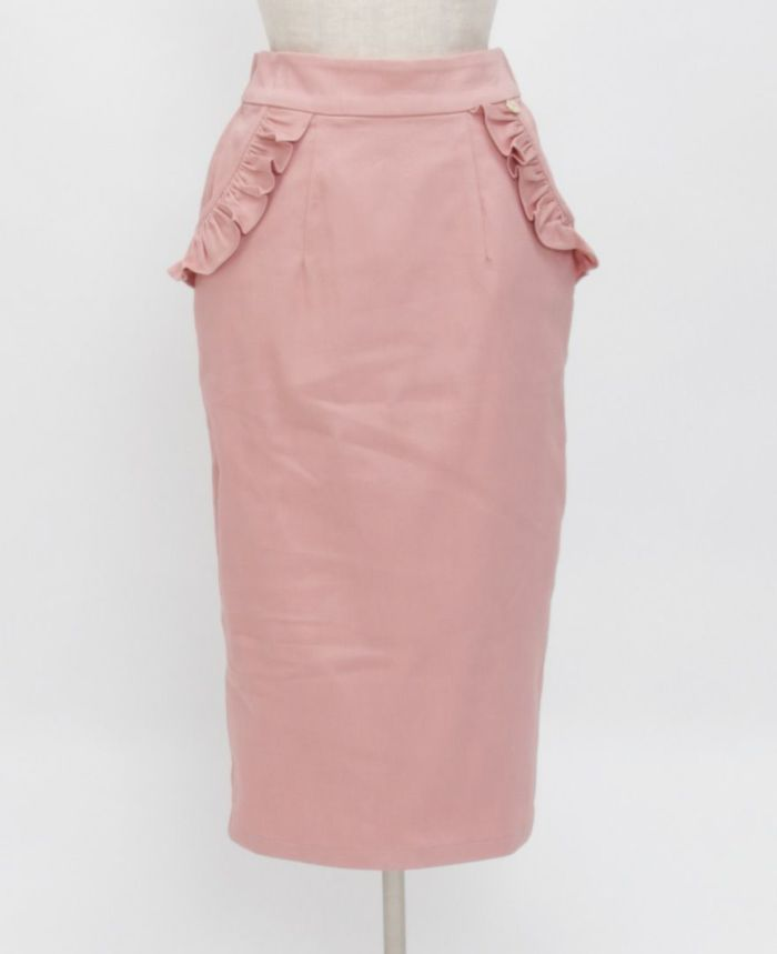 神戸・山の手ポケットフリルスカート フロント詳細