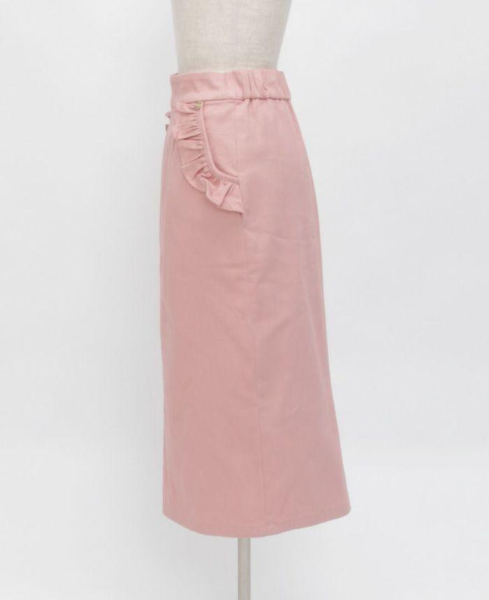 神戸・山の手ポケットフリルスカート サイド詳細
