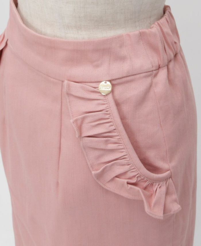 神戸・山の手ポケットフリルスカート ポケット詳細
