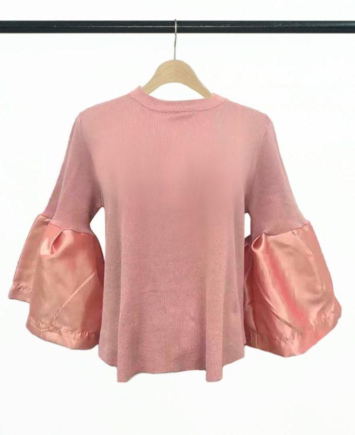 ラッパ袖プルオーバー ピンク