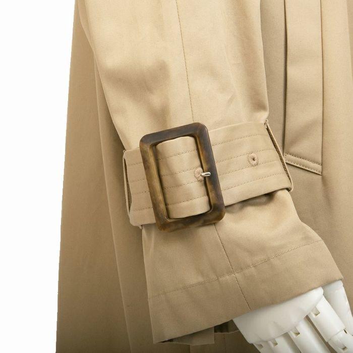 オーバーサイズトレンチコート 調整可能 袖 ぽわん袖