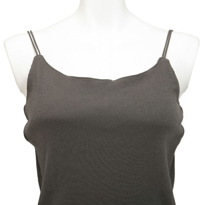 フロント 胸元 カップ付きキャミソール