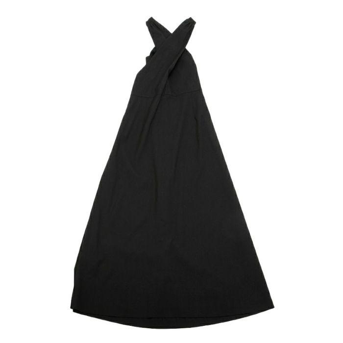 ブラックバックスタイルバッククロスジャンパースカート