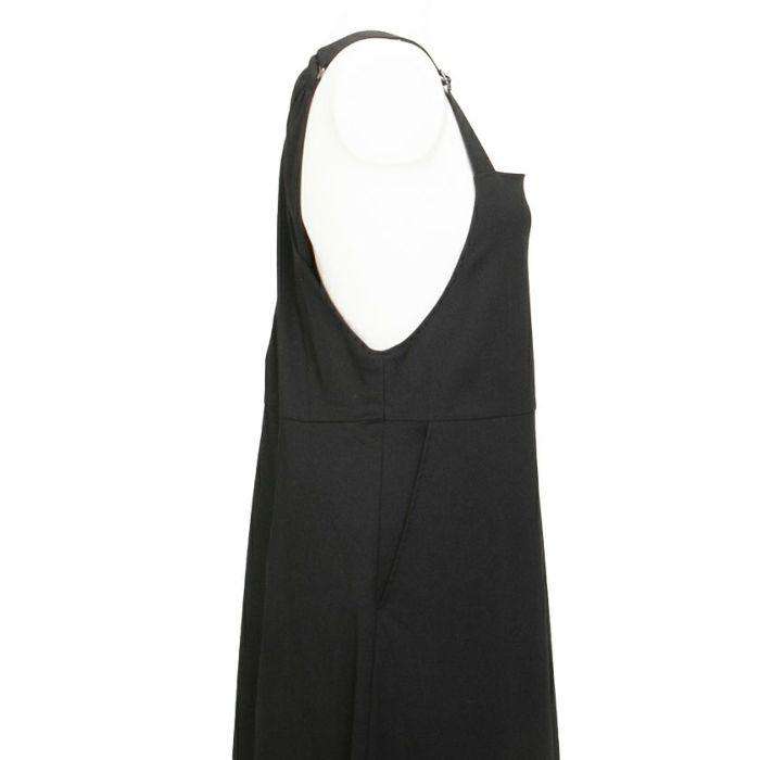 ブラック 脇回りバッククロスジャンパースカート