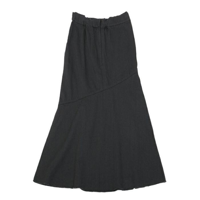 ブラックバックスタイルデニムAラインスカート