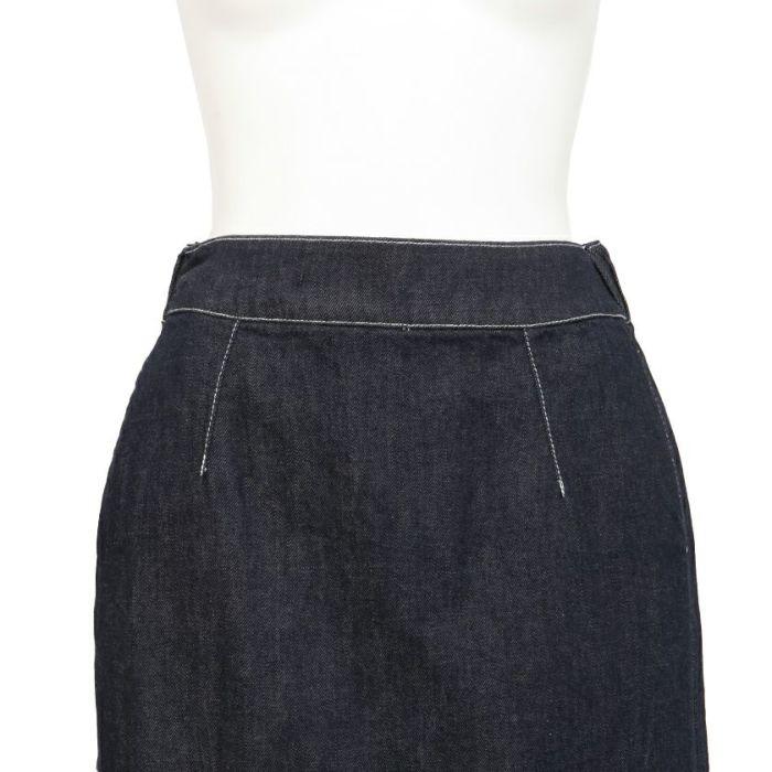 ウエストデニムAラインスカート