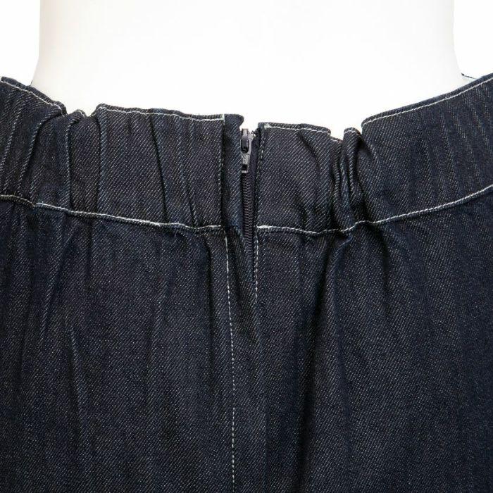 バックファスナーデニムAラインスカート