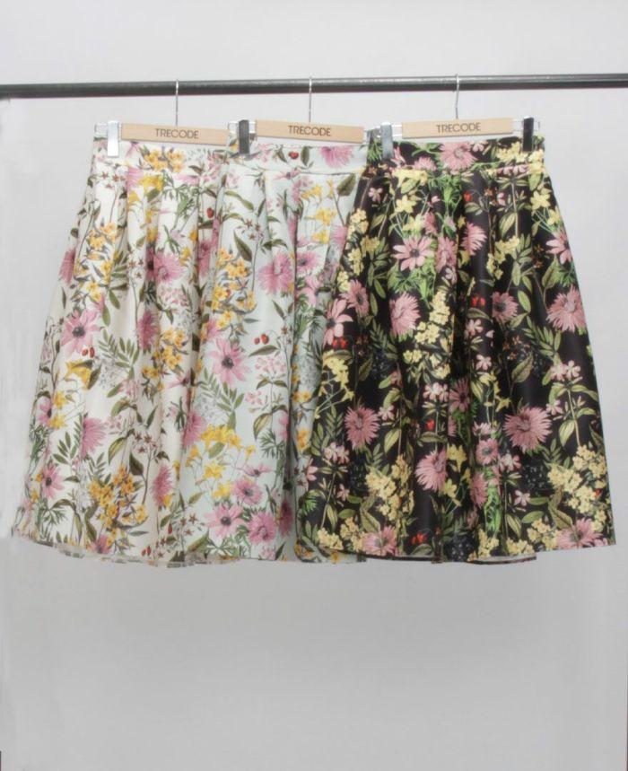 花柄フレアスカート カラー展開