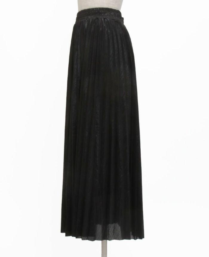 メタルプリーツロングスカートサイド