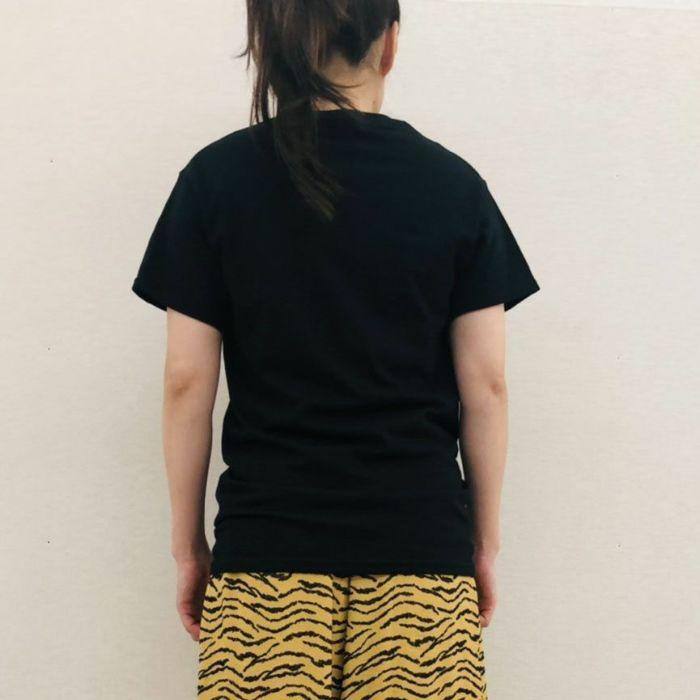 NACO PARIS(ナコパリ) カットソー 半袖Tシャツ 「VIRUS」 ブラック背面