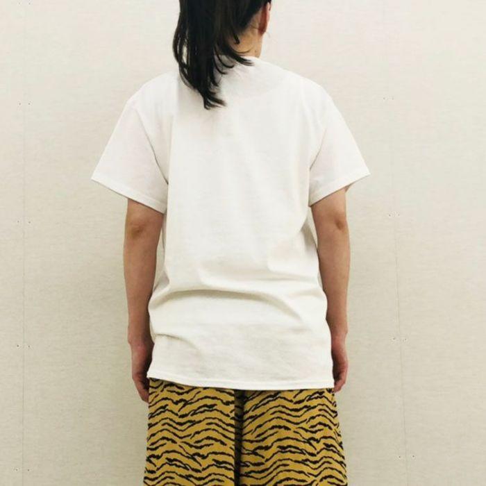 NACO PARIS(ナコパリ) カットソー 半袖Tシャツ 「VIRUS」 ホワイト背面