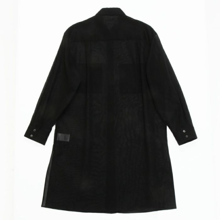 シアーシャツブラックバックスタイル