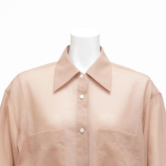 シアーシャツ 襟