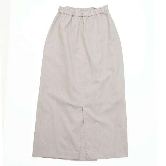 綿麻ラップスカート ベージュ バックスタイル