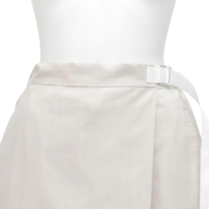 綿麻ラップスカート ウエストサイズ調整可能