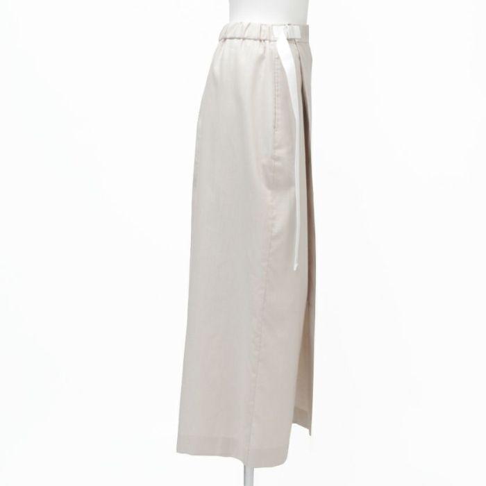 綿麻ラップスカート サイド