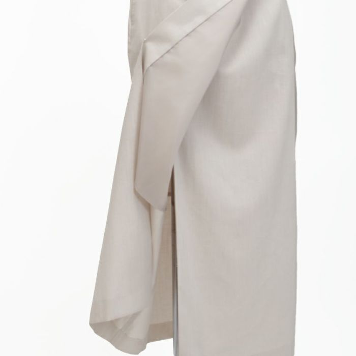 綿麻ラップスカート 裏地つき 下着を気にせず穿いていただけます。