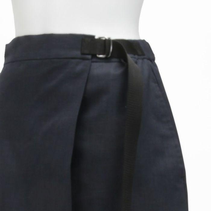 綿麻ラップスカート サイズ調整可能