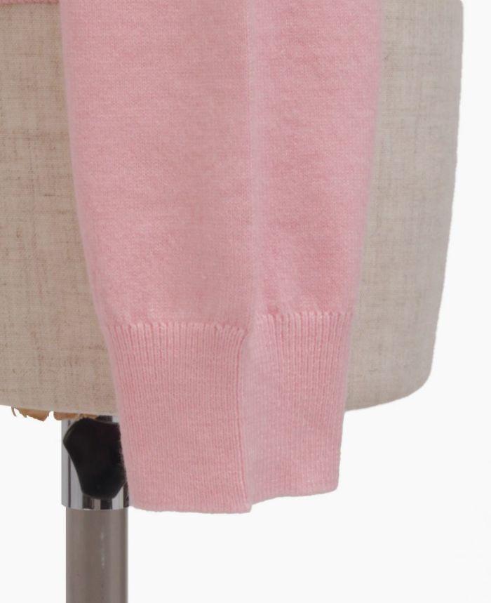 パールボタンカーディガンの袖のリブ詳細