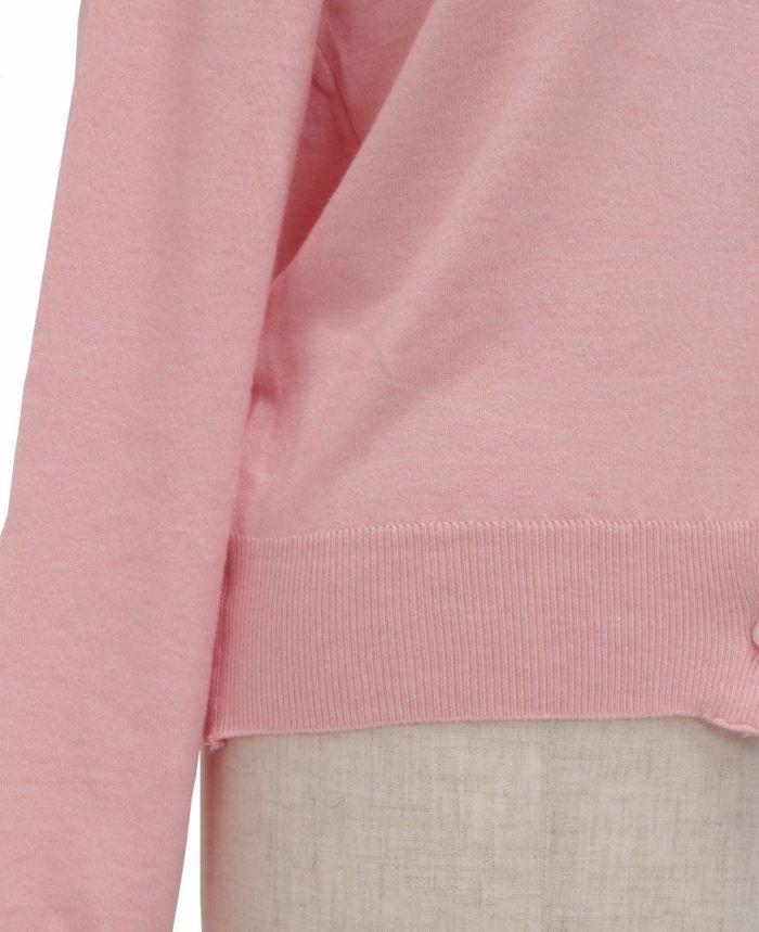 パールボタンカーディガンの裾詳細