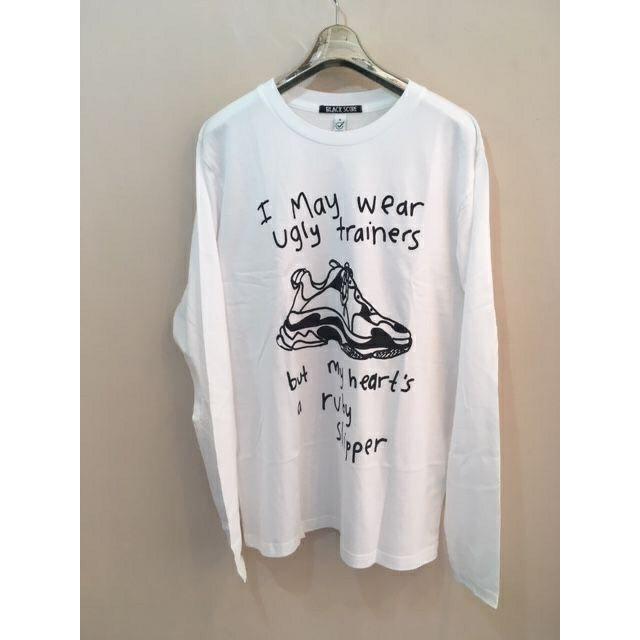 長袖Tシャツ<UGLY TRAINERS >ホワイト