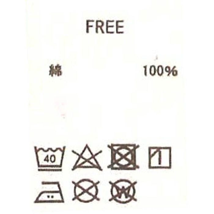 強撚ノースリーブ洗濯表記