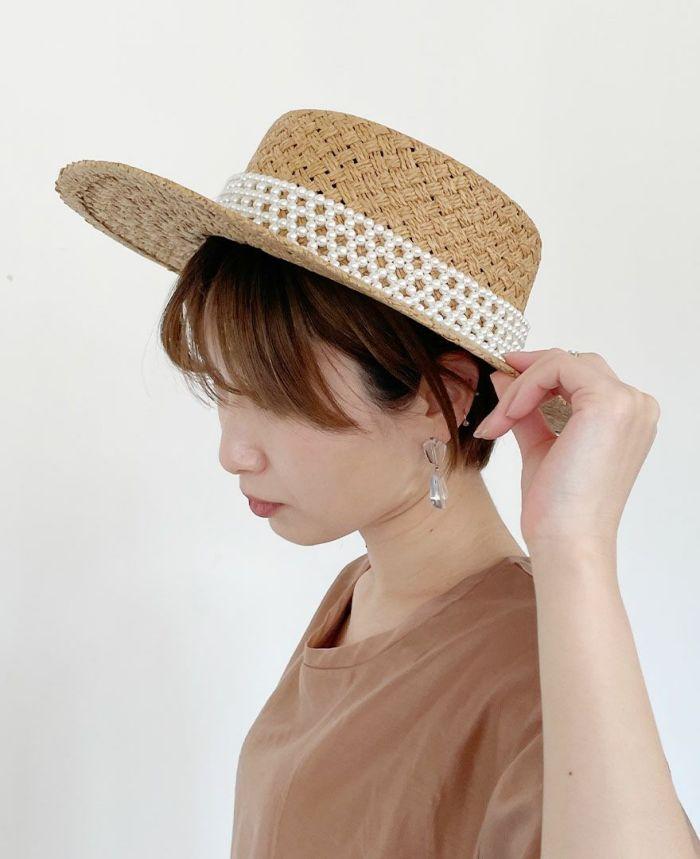 つばがひろめなので、日よけにもなる大人カンカン帽子を販売中です