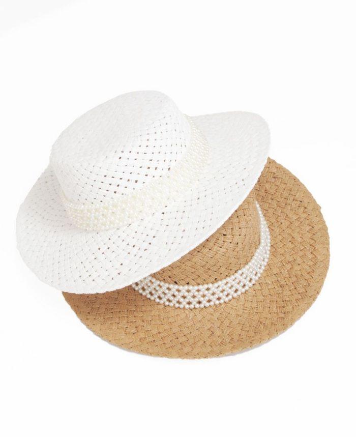 レディライクなカンカン帽子は2色展開