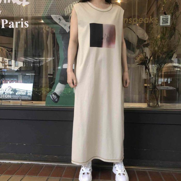 OKIRAKU(オキラク)×JasminSpeaks コラボロングワンピース