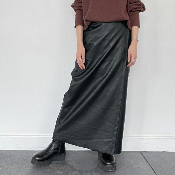 エコレザーラップスカート