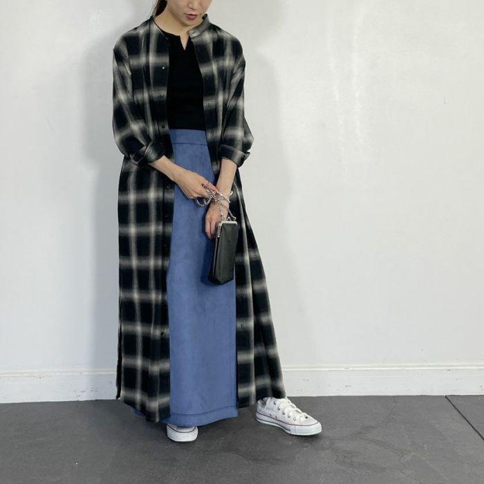 エコレザーラップスカートエコレザーラップスカート